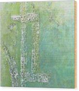 Cross And Fish  Wood Print