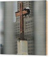 Cross At Ground Zero Wood Print