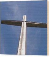 Cross At St. Augustine Wood Print