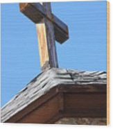 Cross Atop St. Malos Wood Print