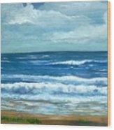 Cross Beach Wood Print