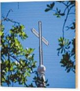 Cross Wood Print