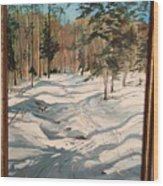 Cross Country Ski Trail Wood Print