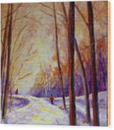 Cross Country Sking St. Agathe Quebec Wood Print