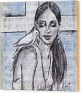 Cross Dove Wood Print