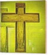 Simple Cross Wood Print
