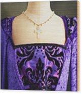 Cross Necklace Wood Print
