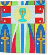Cross Of Colors Wood Print