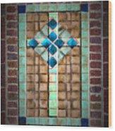 Cross On The Wall Wood Print