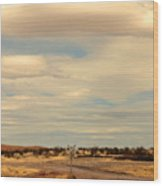 Cross Road In New Mexico Wood Print