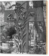 Cross Series IIi In Black And White Wood Print