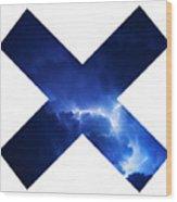 Cross Storm Wood Print