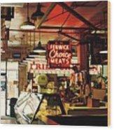 Cross Street Market In Baltimore Wood Print