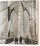 Cross That Bridge Vintage Photo Art Wood Print