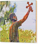 Cross To The Sky Wood Print