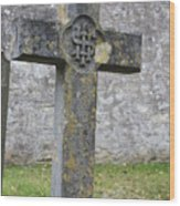 Cross Tombstone St. Mary's Wedmore Wood Print