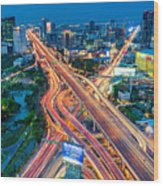 Cross Town Traffic Wood Print