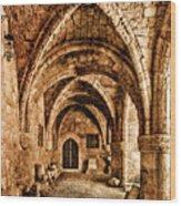 Rhodes, Greece - Cross Vault Wood Print