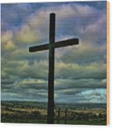 Cross Without Words Wood Print