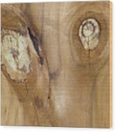 Crosseyed Wood Print