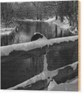 Crossing Cedar Creek Wood Print