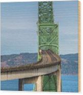 Crossing Columbia Wood Print