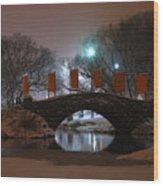 Crossing Gapstow Bridge Wood Print