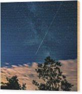 Crossing The Milky Way Wood Print