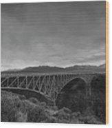 Crossing The Rio Grande Wood Print