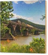 Crossing The Susquehanna Wood Print