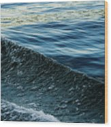 Crossing Waves Wood Print