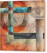 Crossroads Abstract Wood Print