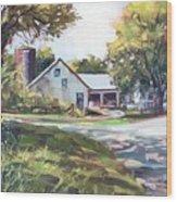 Crossroads Farmhouse Wood Print