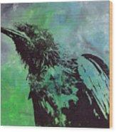 Crow II Wood Print