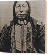 Crow King Wood Print