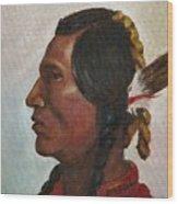 Crow Warrior Wood Print