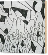 Crowd Wood Print