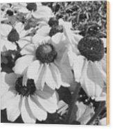 Crowded Flowers Wood Print