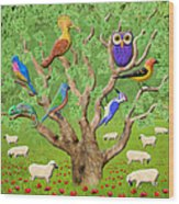 Crowded Tree Wood Print