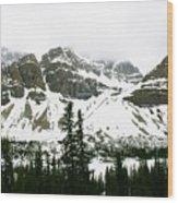Crowfoot Mountain At Bow Lake Wood Print