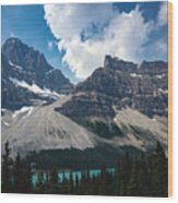 Crowfoot Mountain Wood Print