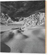 Crowley Lake Snow Fields Wood Print