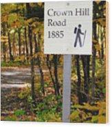 Crown Hill Road 1885 Wood Print