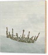 Crown In The Snow Wood Print