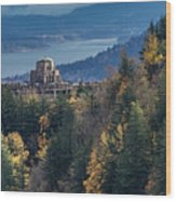 Crown Point In The Fall Wood Print