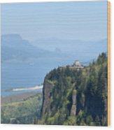 Crown Point Vista House Wood Print