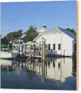 Crowninshield Boat House Wood Print