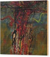 Crucified Wood Print