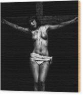 Crucifix I Wood Print