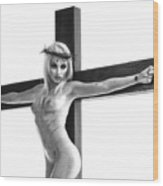 Crucifix Portrait I Wood Print
